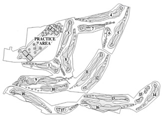 Course Map Arcos Golf Club & Country Estate