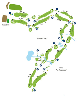 Course Map Alcaidesa Links Golf