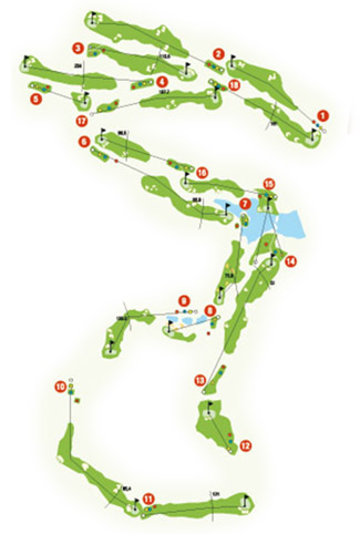 Course Map Alcaidesa Heathland Golf