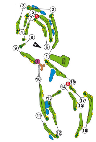 Course Map Aloha Golf Club