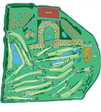 Course Map Fairplay Golf Course