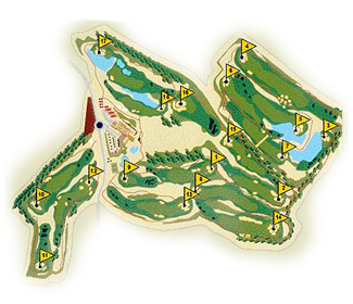 Course Map Club de Golf Zaudin