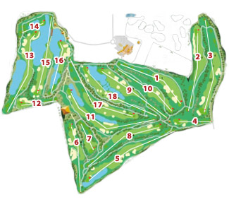 Course Map Sherry Golf Jerez