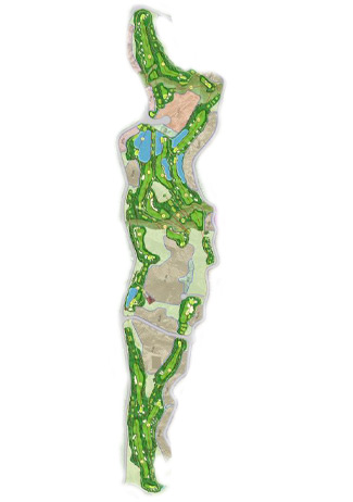 Course Map Aguilon Golf course