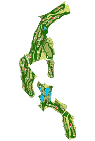 Course Map La Monacilla Golf