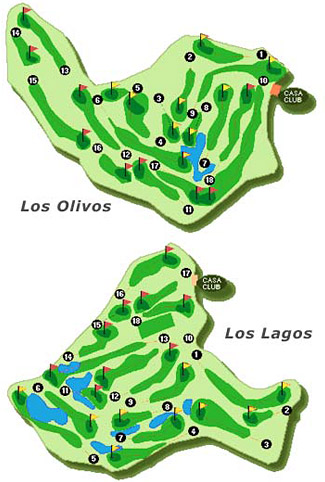 Course Map Mijas Golf - Los Lagos