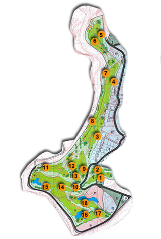 Course Map Santana Golf club