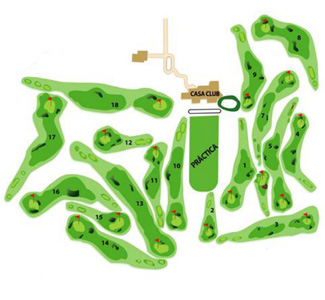 Course Map Golf Costa Teguise
