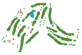 Course Map Lanzarote Golf Course
