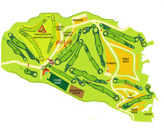 Course Map Amarilla Golf & Country Club