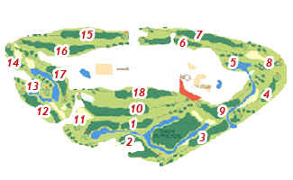 Course Map Las Américas Golf Course