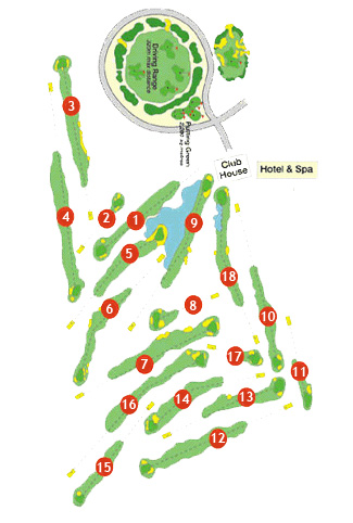 Course Map Son Antem Golf Course West