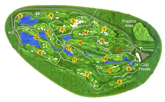 Course Map Son Gual Golf Course