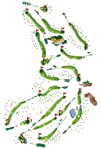 Course Map Son Muntaner Golf Course