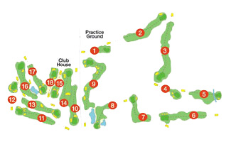 Course Map Vall D'Or Golf Course