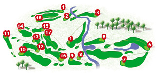 Course Map Pula Golf Course