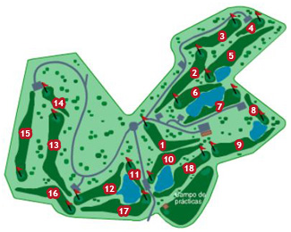 Course Map Bonalba Golf Course