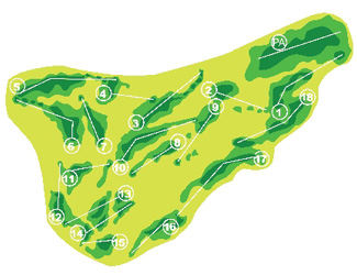 Course Map Villaitana Golf Course Poniente