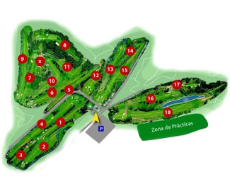 Course Map San Cugat Golf Course
