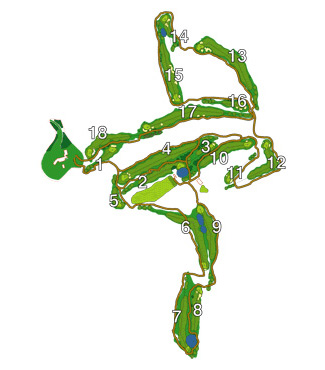 Course Map Sant Vicenç de Montalt Golf Course