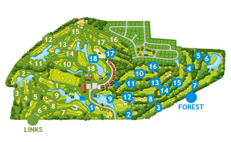 Course Map Empordá Golf Forest Course
