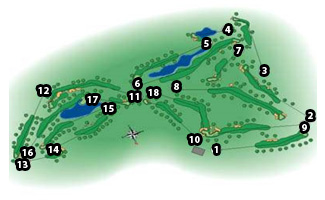 Course Map La Moraleja Golf Course II