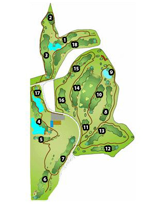Course Map El Robledal Golf Course