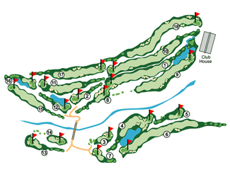 Course Map Los Lagos Golf Course