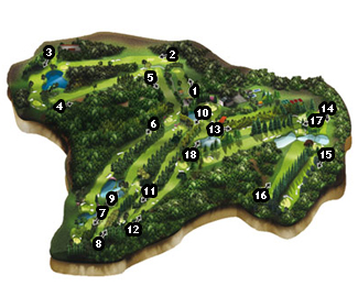 Course Map La Coruña Golf Course