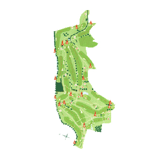 Course Map Mondariz Golf Course