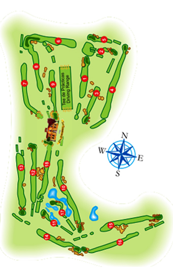 Course Map Real Guadalhorce Golf Club
