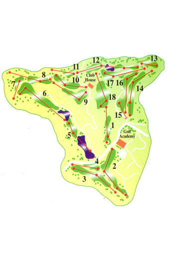 Course Map Miraflores Golf Club