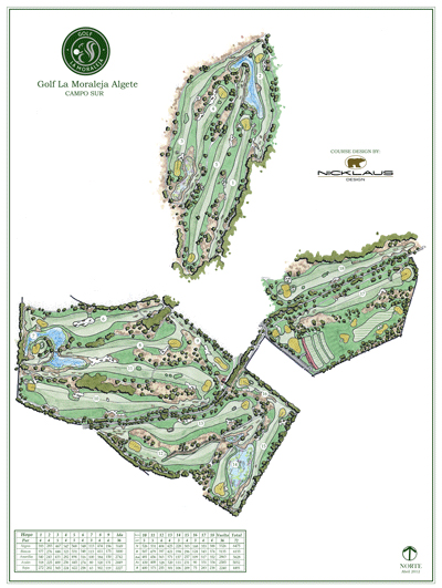 Course Map La Moraleja Golf Course IV