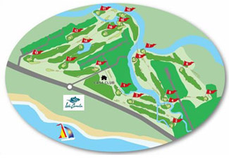 Course Map Isla Canela